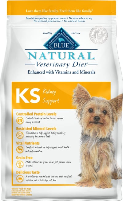 Blue Buffalo Natural Veterinary Diet KS Kidney Support Dry