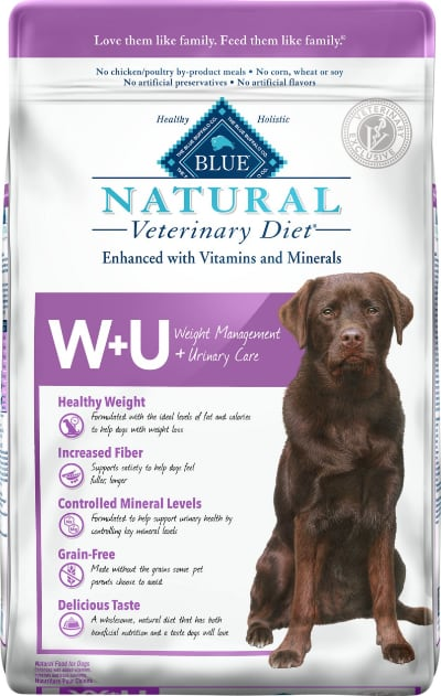 Blue Buffalo Natural Veterinary Diet W+U Weight Management + Urinary Care dry