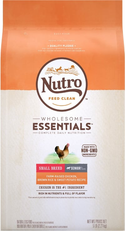 Nutro Wholesome Essentials Small Breed Senior Food Chicken