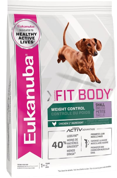 Eukanuba Fit Body Weight Control Chicken Formula Small Breed