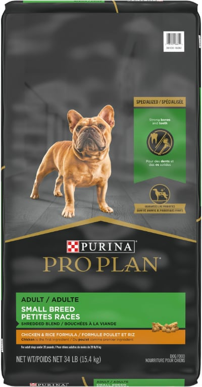 Purina Pro Plan Shredded Blend Adult Small Breed Chicken & Rice Formula