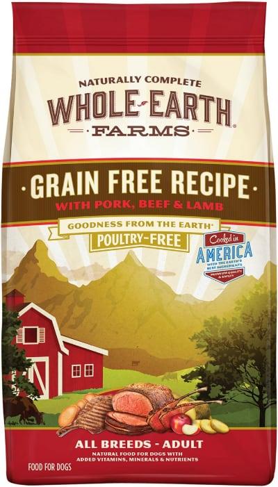 Whole Earth Farms Grain Free Pork Beef Lamb