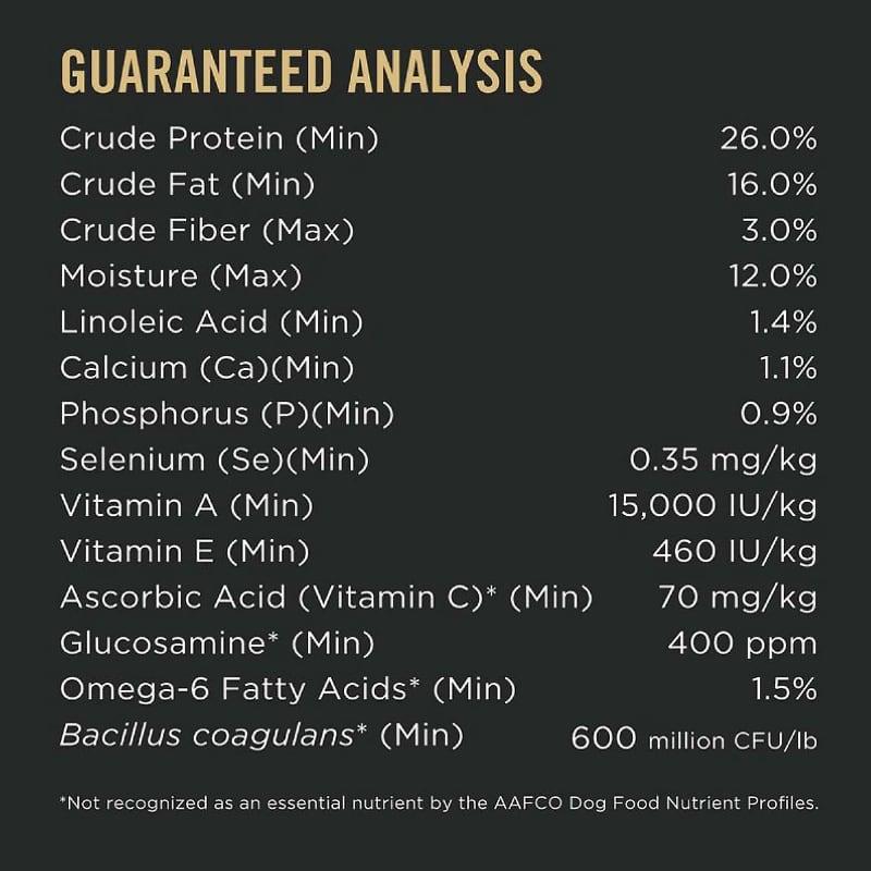 purina pro plan guaranteed analysis