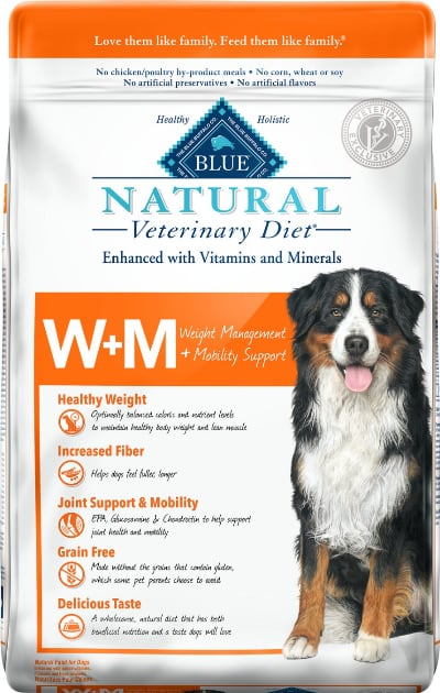 Blue Buffalo Natural Veterinary Diet W+M Weight Management + Mobility Support